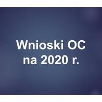 Wnioski OC na 2020 r.